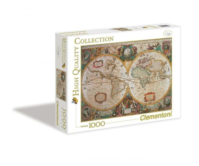 Clementoni old map 1000 piece jigsaw puzzle ebay clementoni 31229 carte antique 1000 pieces high quality collection jigsaw puzzle gumiabroncs Gallery