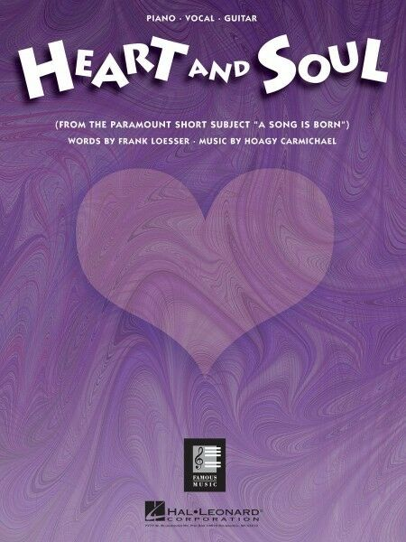 Heart & Soul Song for Piano Vocal Sheet Music Guitar Chords Melody ...