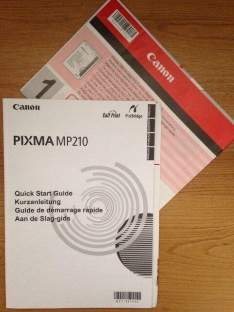 Инструкция принтера canon mp210