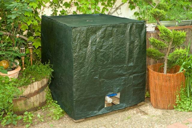 noor ibc container cover wassertank abdeckung 1000l ebay. Black Bedroom Furniture Sets. Home Design Ideas
