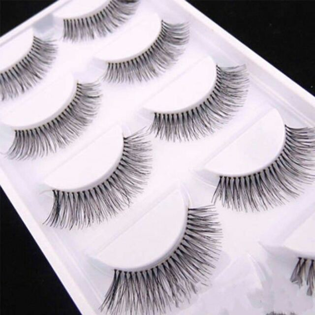 5pair Wholesale Handmade Real Mink 3d False Eyelashes Cross Thick