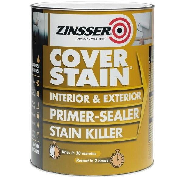 Zinsser Cover Stain® Primer Sealer Stain Block Stop Killer Multi-Surface 500ml