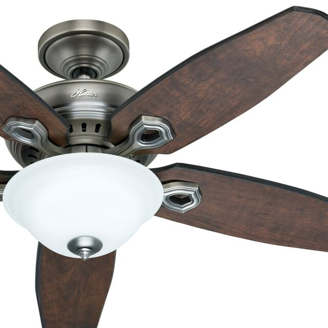 Hunter 52 5 blade ceiling fan with light and remote antique hunter 52 traditional ceiling fan antique pewter finish remote control aloadofball Choice Image