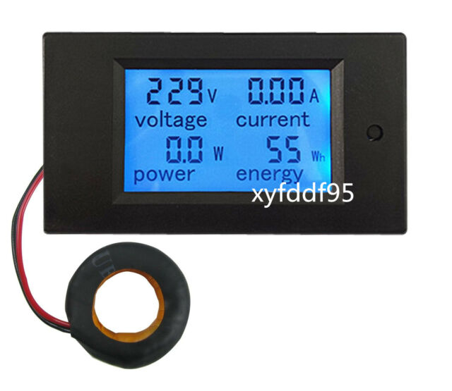 AC 100A Power Meters Monitor Volt Amp kWh Watt Digital Combo Meter AC110v 230V