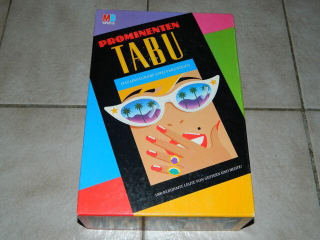 Prominenten TABU - Das unsagbare Spielvergnügen - MB Spiele - Kultig