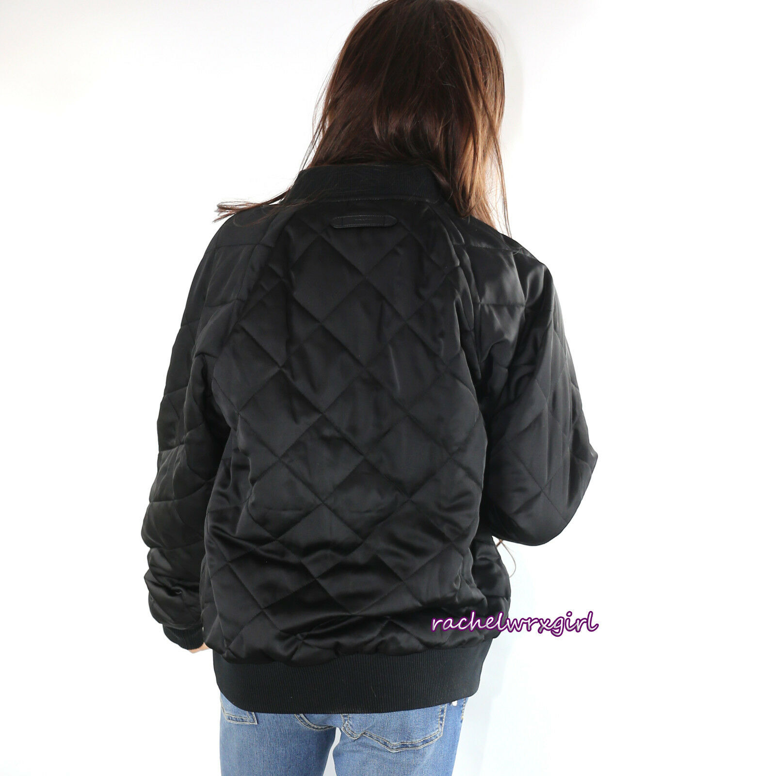Coach Bomber Quilted Coat Jacket With Leopard Lining F54128 Medium ... : coach quilted coat - Adamdwight.com