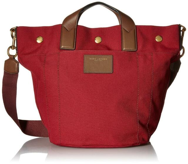 Marc Jacobs Canvas Leather Trooper Dark Red Nwot 350