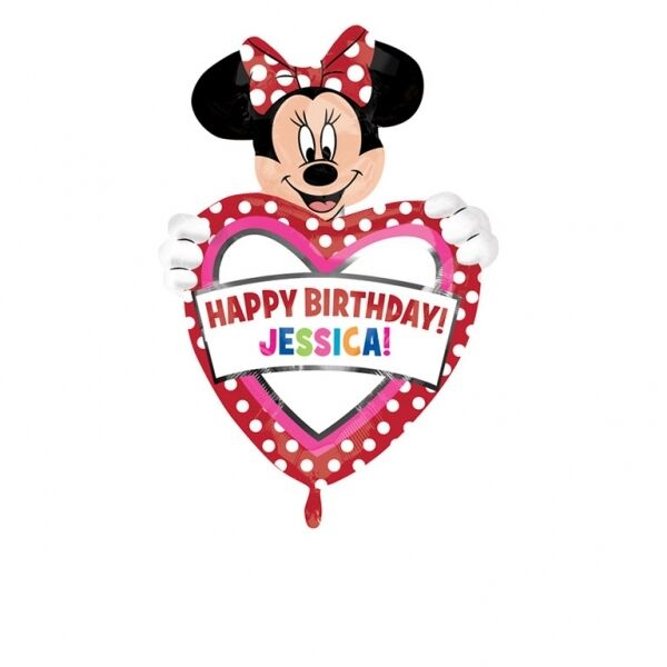 Party Disney Minnie Mouse Personalised Birthday Foil Balloon ...