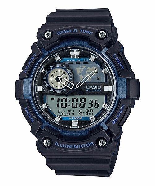AEQ-200W-2A Blue Casio Men's Watches Standard 10-Year Battery AE-Q200W
