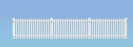 Ratio 421 GWR Station Fencing 4 x 171mm Long White '00' Gauge Plastic Kit 1stPos