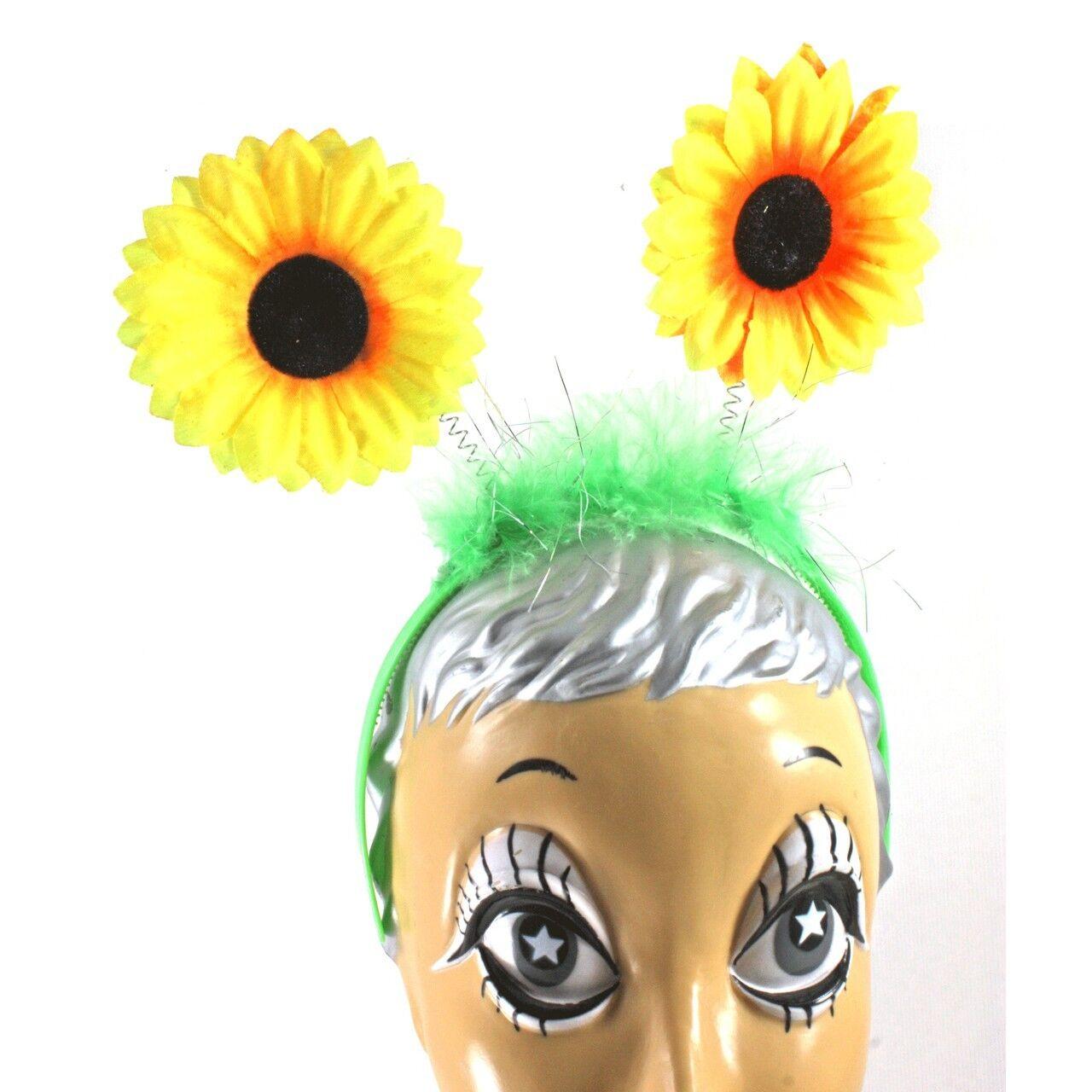 Sunflower Flower Headpiece Antenna With Yellow Flowers Costume