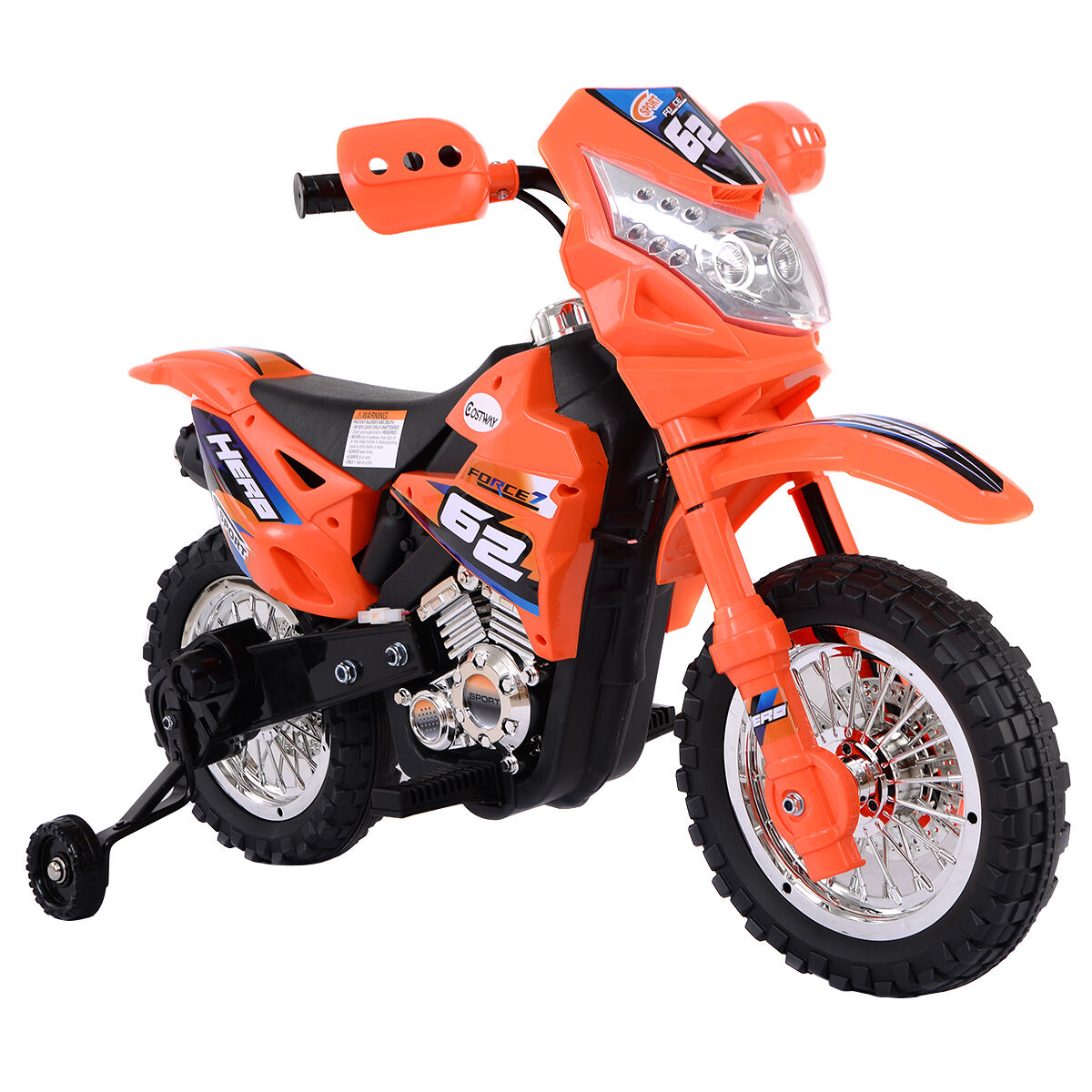 Uncategorized Kids Motorcycle costzon kids ride on motorcycle with training wheel 6v battery picture 1 of 7