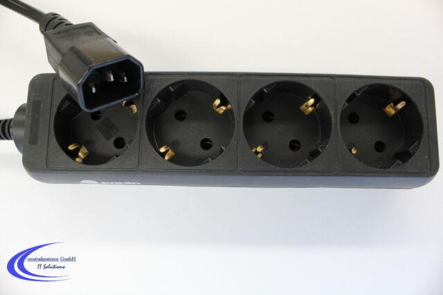 Equip Steckdosenleiste für USV 4 fach Euro Schuko Stecker - PDU USV Adapter