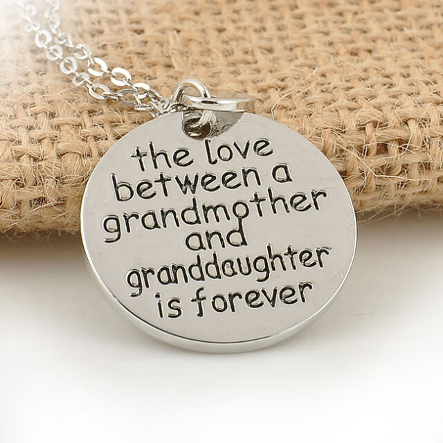 Hot Sale! The love between a grandmother and granddaughter is forever Necklace