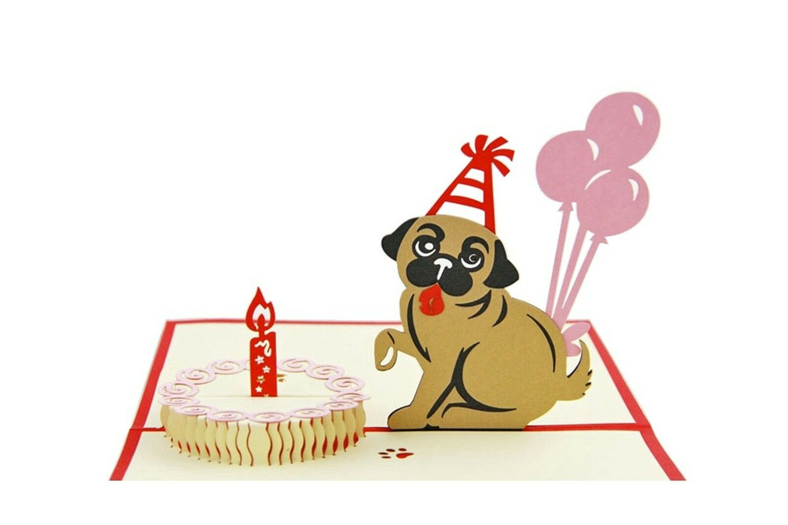Isharecards Handmade 3d Pop Up Childrens Birthday Cards Dog House Ebay