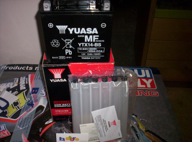 BATTERIA YUASA YTX14-BS ORIGINALE PIAGGIO 500 BEVERLY CRUISER MP3 07-13