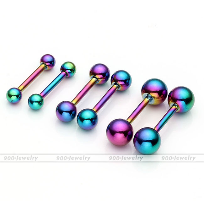 16g 6mm 16mm Bar Steel Eyebrow Nose Lip Tongue Nipple Helix Tragus