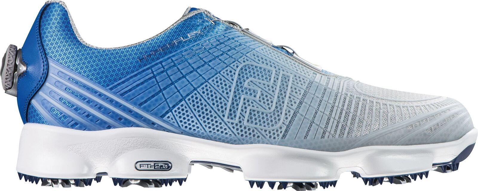 FootJoy HyperFlex 2Boa zapatos de golf 2016, hombre, Blue/SILVER