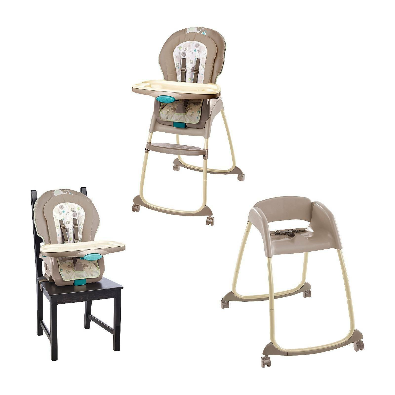 Ingenuity Trio 3 in 1 Deluxe High Chair Sahara Burst Infant