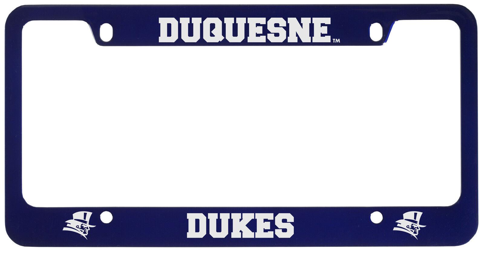 Duquesne University -metal License Plate Frame-blue | eBay