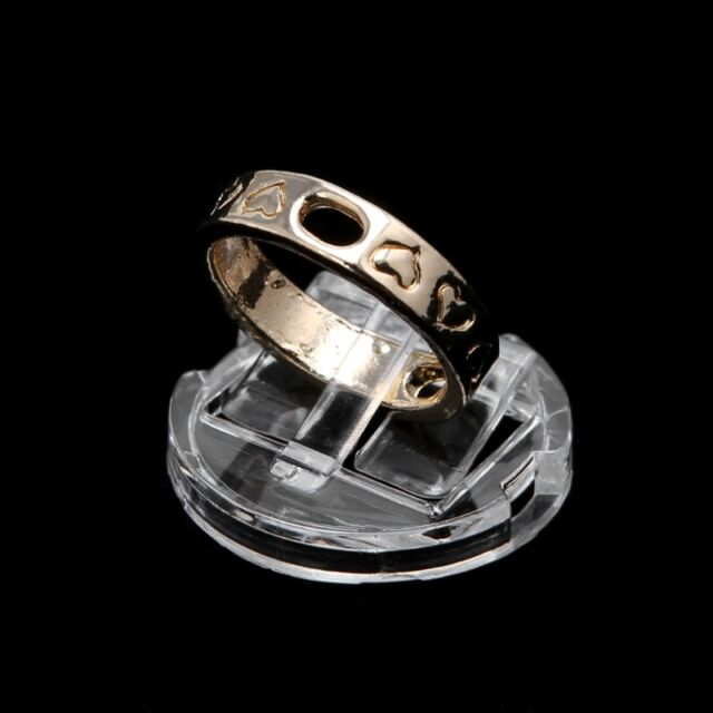 Transparent Finger Ring Display Stand Holder Jewelry Tray Ring