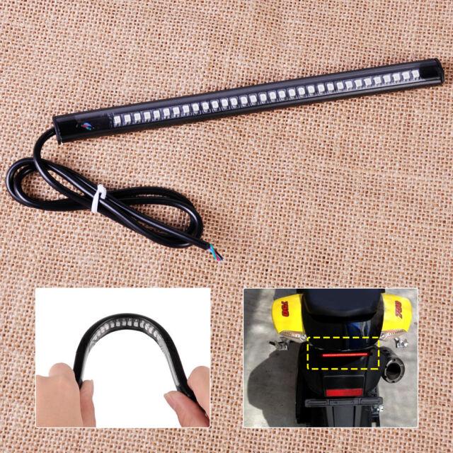 32 LED Flexibel Universal Motorrad Rücklicht Bremslicht Blinker Streifen Licht