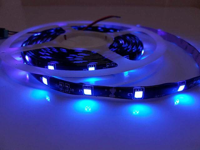 12V Real UV (Ultraviolet) 5M SMD5050 LED Strip Light No Adapter Under Cabinet