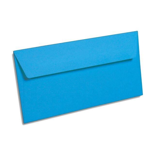 50 Karibik Blau Din Lang  Briefumschläge Pollen Clairefontaine farbig HK