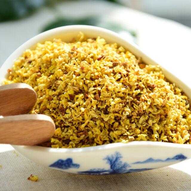 50g Organic Golden Sweet Osmanthus Fragrans Dried Chinese Herbal Flower / っ