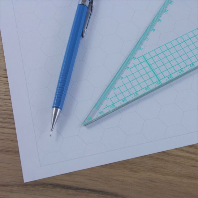 A3 Hexagon Graph Paper 20mm 2cm Grid Choice of Colour 5 to 60 Sheets ...