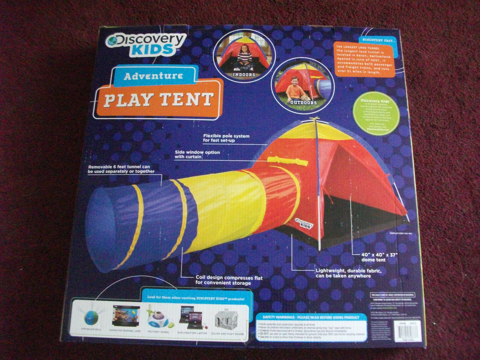 Discovery Kids Adventure 2 PC Play Tent u0026 Tunnel Set Indoor Outdoor | eBay & Discovery Kids Adventure 2 PC Play Tent u0026 Tunnel Set Indoor ...