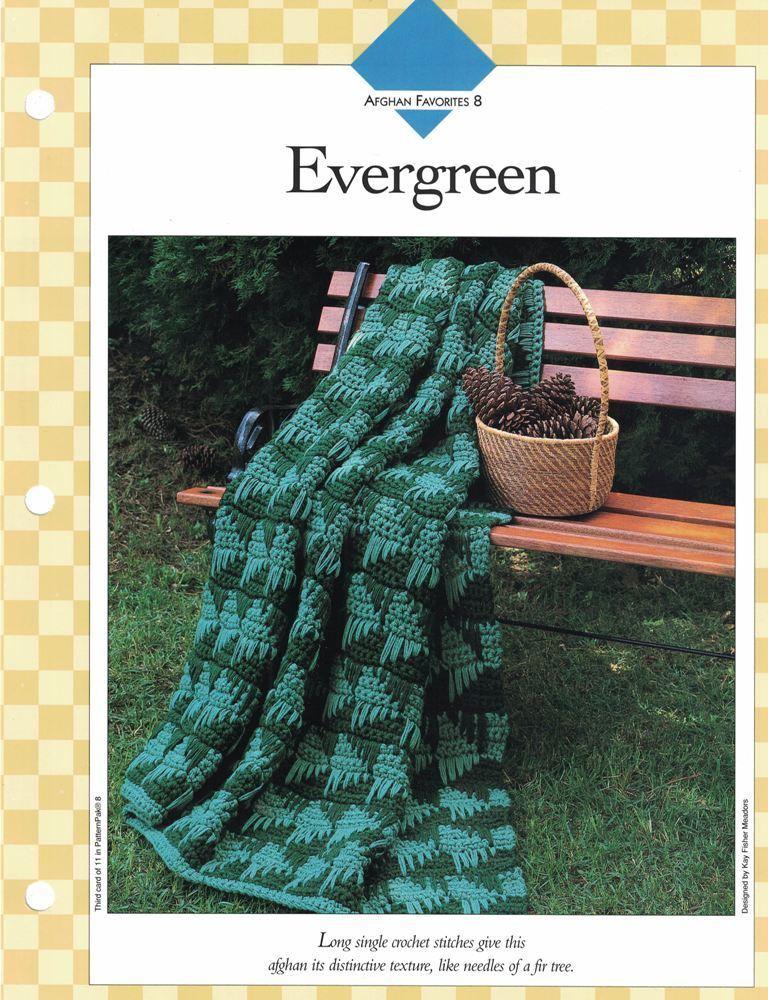 Evergreen Afghan To Crochet Single Pattern Vanna White Ebay