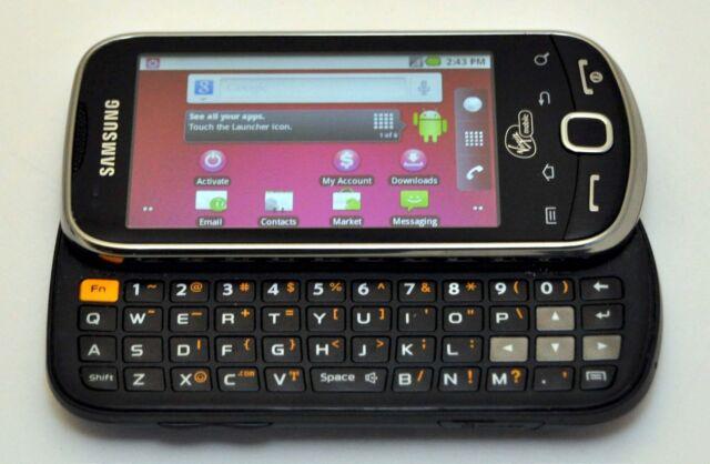 Samsung Intercept M910 Android Phone Virgin-Mobile STEEL GRAY keyboard WiFi text