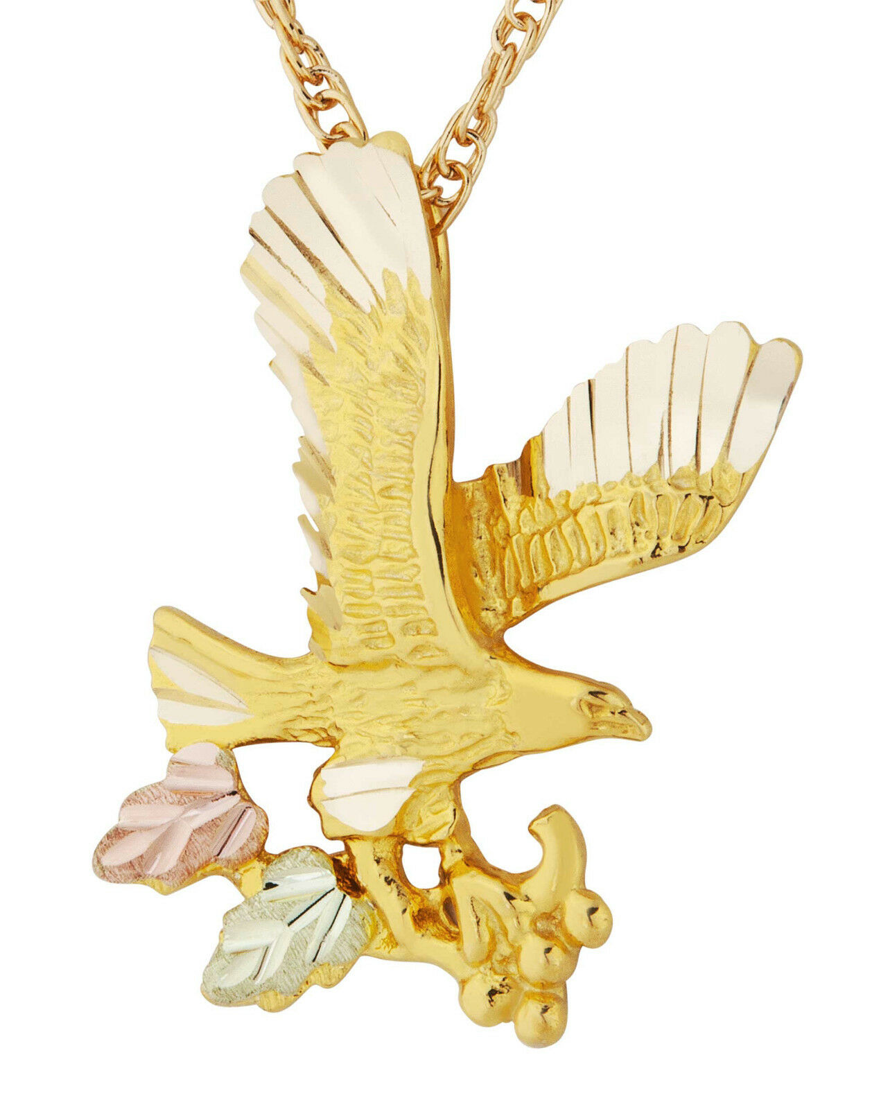 gold itm pendant ladies cut mens aguila real diamond flying eagle mexican yellow
