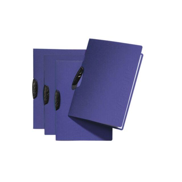 Bewerbungsmappe Pagna Swing Blau mit Clip Glatter Karton und Prägung Bewerbung