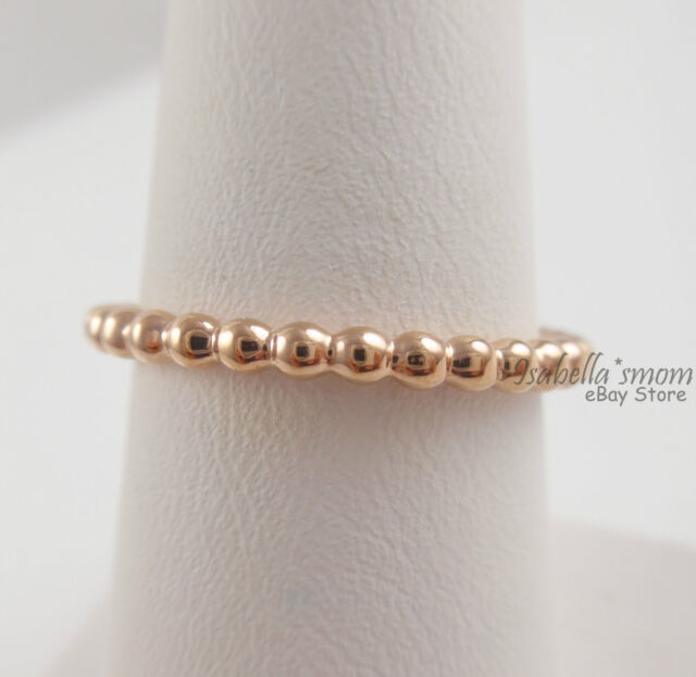 Eternal Clouds Genuine PANDORA Rose Gold Plated Stackable Band