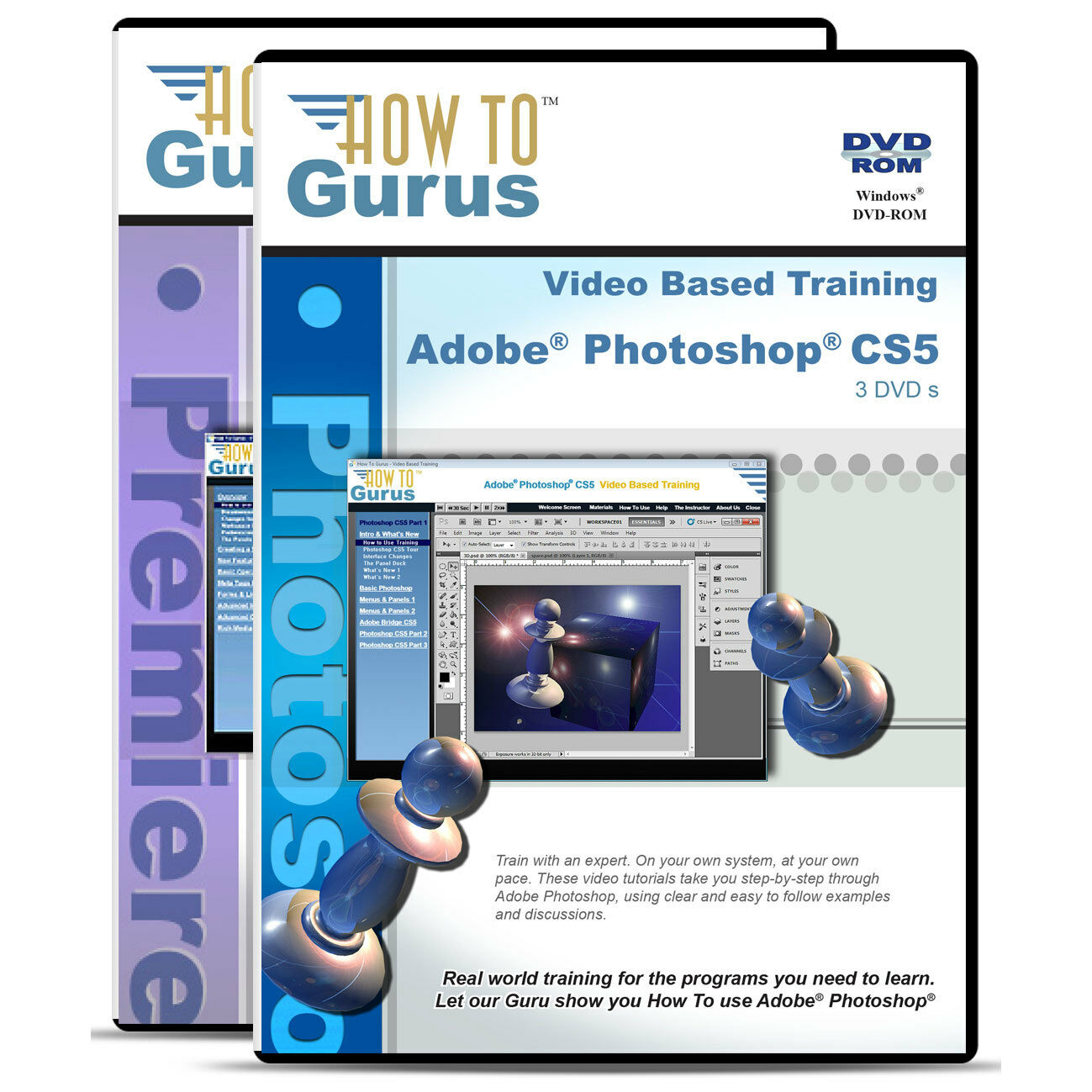 Adobe photoshop cs5 and premiere pro cs4 tutorial training 5 dvds picture 1 of 1 baditri Choice Image