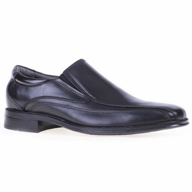 Men Dockers FRANCHISE 90-27224 Black Leather Loafers Pointed Toe Dress Shoes
