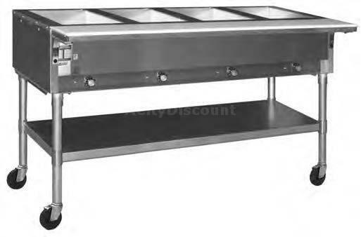 Eagle Group SPDHT Dual Well Mobile Electric Hot Food Table W Ss - Electric hot food table