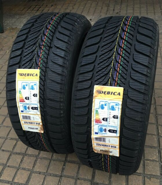 PAIR OF NEW DEBICA FRIGO HP 225 45 17 M+S WINTER TYRES FITTING NW LONDON