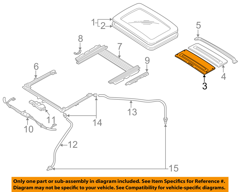 Mitsubishi Sunroof Diagram Schematic Diagrams 2001 Eclipse Wiring Oem 00 05 Sunshade Mr523125 Ebay