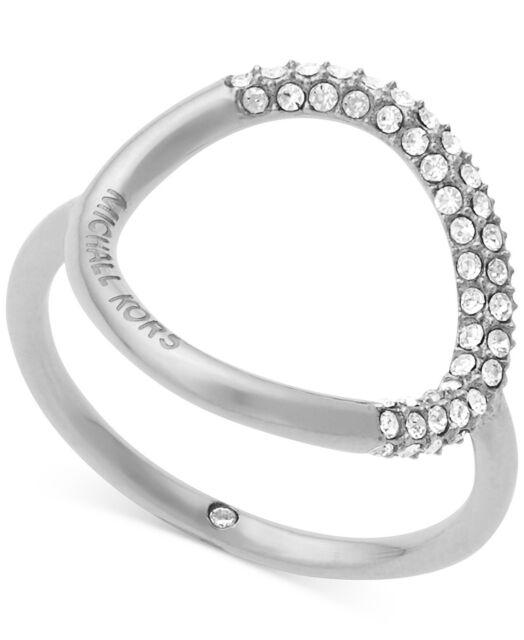 Michael Kors Women's Silver Ring MKJ5858040 vVS3s