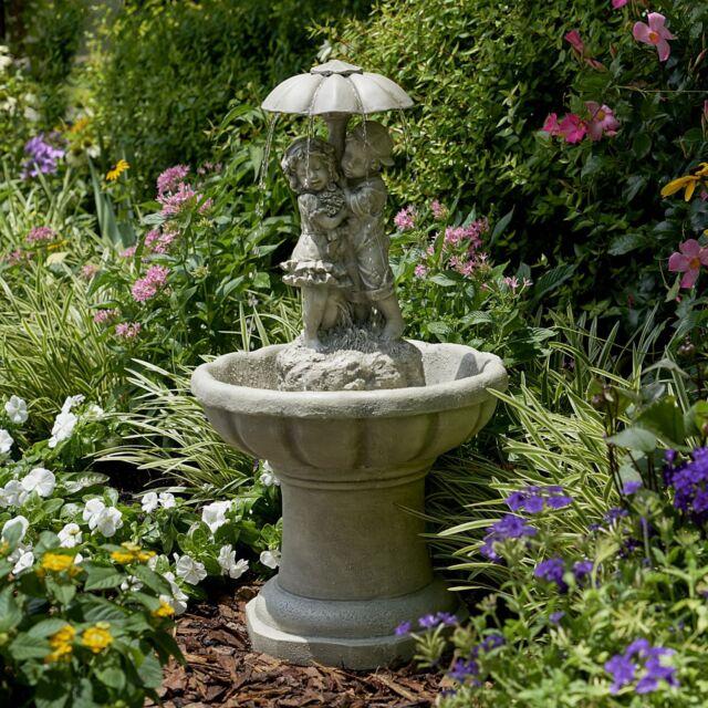Garden Water Fountain Outdoor Waterfall Decor Patio Lawn Yard Landscape  Ornament