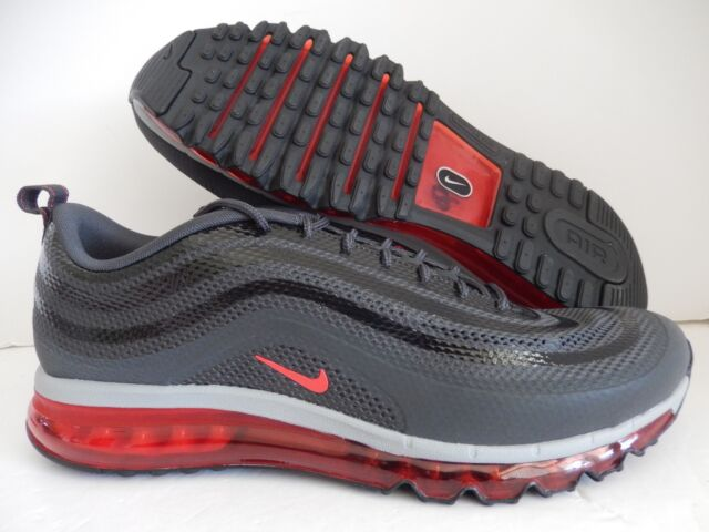 NIKE AIR MAX 97 2013 HYP HYPERFUSE ANTHRACITE-RED-GRY-BLACK SZ 12 [631753-002]
