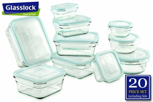 Glasslock Food Storage Container Sets Adorable GLASSLOCK Food Storage Glass Containers 60pc Set R Antispill Proof