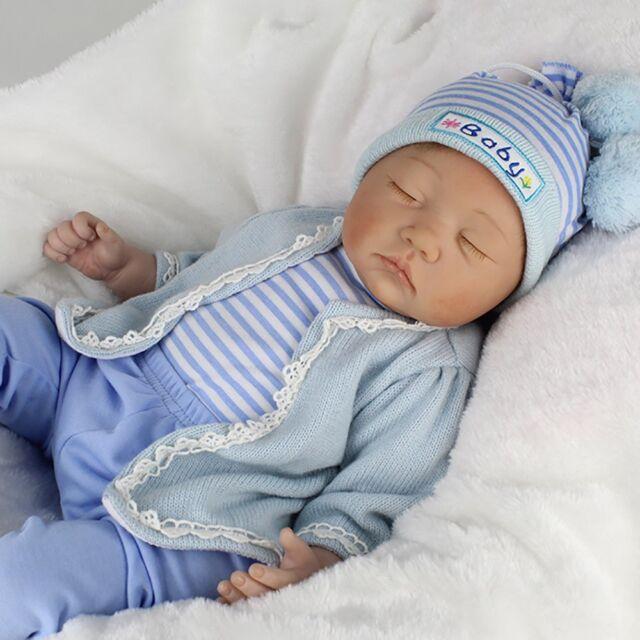 Handmade Reborn Newborn Dolls 22inch Vinyl Silicone Baby