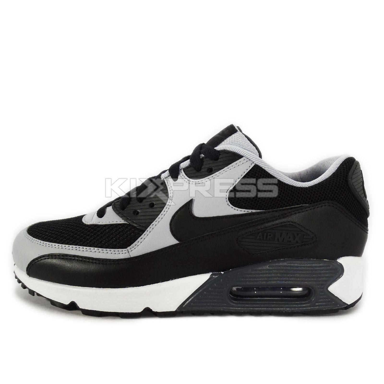 nike air max 90 essential black wolf grey
