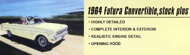 Trumpeter '64 1964 Futura convertible stock plus Cabrio 1:25 Modell-Bausatz