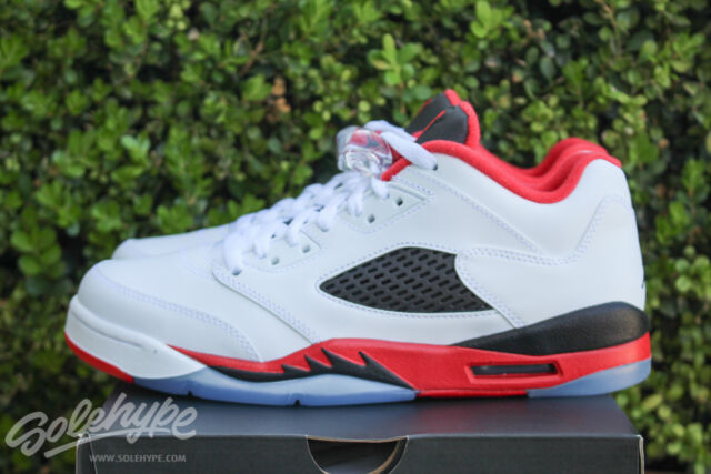 e7afc9f8059a ... AIR JORDAN 5 RETRO LOW V GS SZ 4.5 Y FIRE RED WHITE BLACK 314338 101 ...