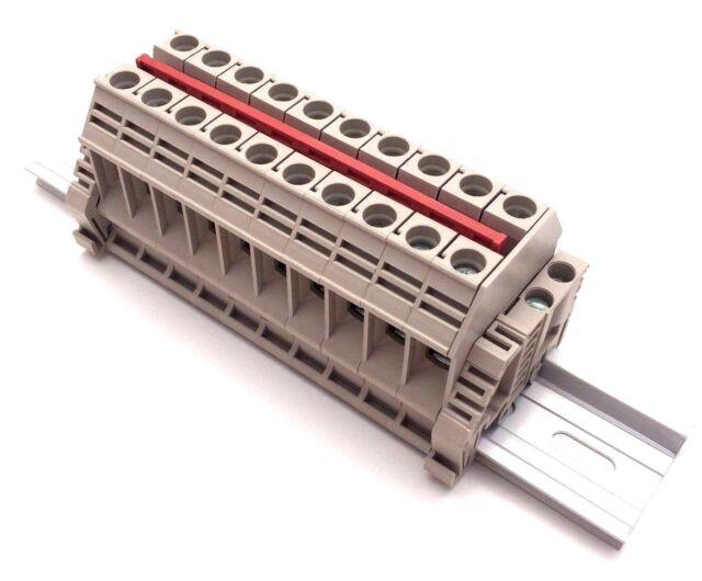 Power Terminal Block : Power distribution terminal blocks connector din rail